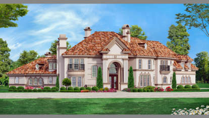 5 Bed, 4 Bath, 5057 Square Foot House Plan - #5445-00153