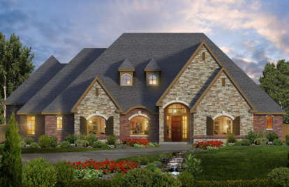 4 Bed, 3 Bath, 4265 Square Foot House Plan #5445-00170