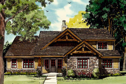 4 Bed, 3 Bath, 1877 Square Foot House Plan - #1907-00013
