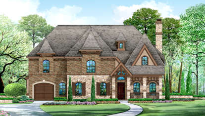 5 Bed, 5 Bath, 5297 Square Foot House Plan - #5445-00178