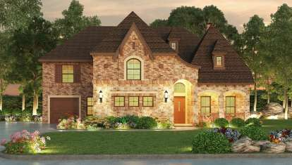 5 Bed, 5 Bath, 5297 Square Foot House Plan - #5445-00179