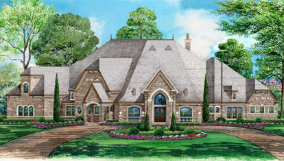 5 Bed, 6 Bath, 7670 Square Foot House Plan - #5445-00183