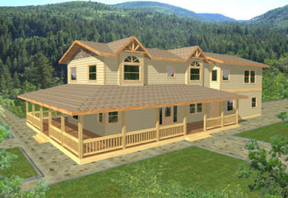 3 Bed, 2 Bath, 3429 Square Foot House Plan - #039-00323