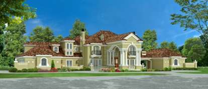 5 Bed, 5 Bath, 6969 Square Foot House Plan - #5445-00197