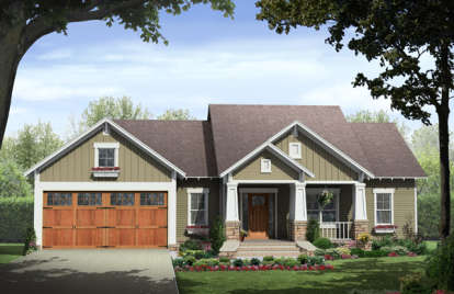 3 Bed, 2 Bath, 1627 Square Foot House Plan #348-00232