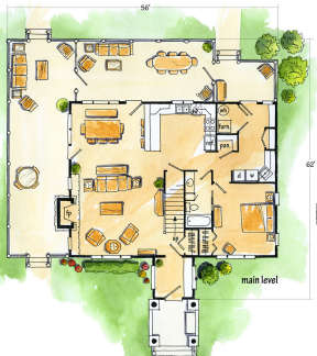 Floorplan 1 for House Plan #1907-00014