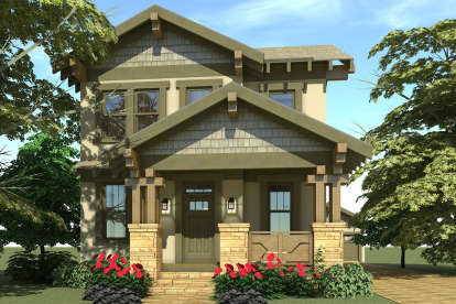 3 Bed, 2 Bath, 2080 Square Foot House Plan #028-00112