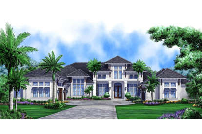 4 Bed, 4 Bath, 5377 Square Foot House Plan #1018-00203