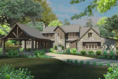 4 Bed, 4 Bath, 4164 Square Foot House Plan - #9401-00085