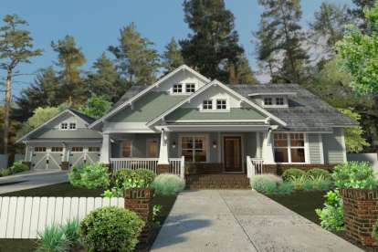 3 Bed, 2 Bath, 1879 Square Foot House Plan #9401-00086