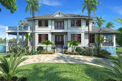 5 Bed, 5 Bath, 6152 Square Foot House Plan - #1018-00208