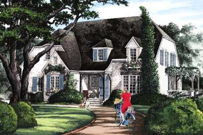5 Bed, 4 Bath, 2673 Square Foot House Plan - #7922-00223