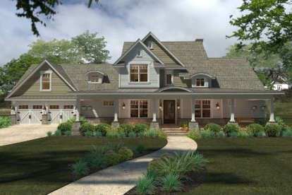3 Bed, 3 Bath, 2414 Square Foot House Plan - #9401-00088