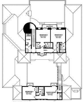 Second Floor for House Plan #3978-00001