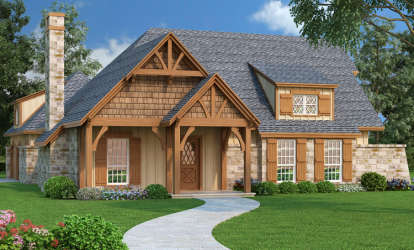 3 Bed, 2 Bath, 1292 Square Foot House Plan #048-00226