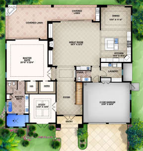 Floorplan 1 for House Plan #5565-00011