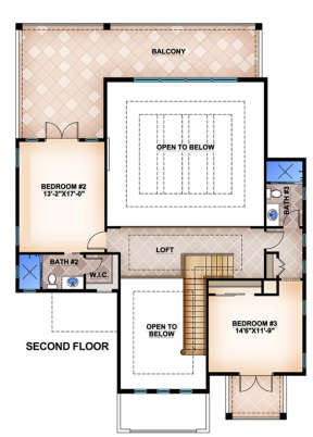 Floorplan 2 for House Plan #5565-00011