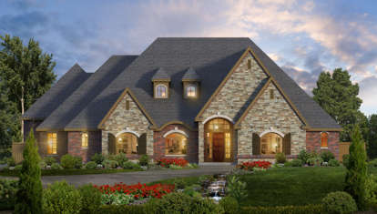3 Bed, 2 Bath, 4461 Square Foot House Plan - #5445-00220