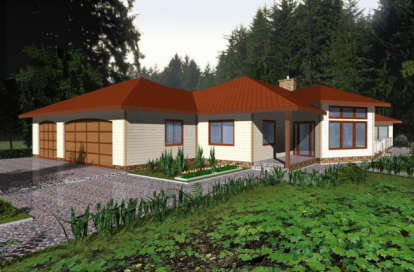 3 Bed, 2 Bath, 2075 Square Foot House Plan - #039-00331