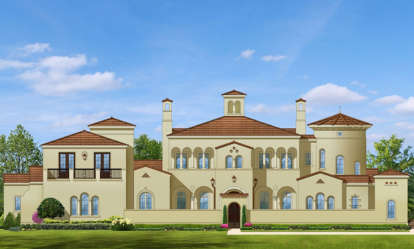 5 Bed, 6 Bath, 6302 Square Foot House Plan - #3978-00012