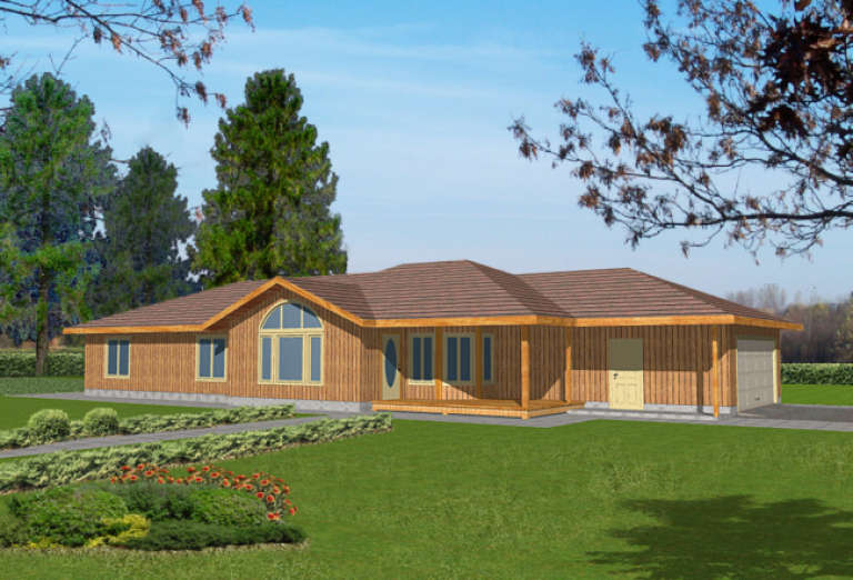 Ranch House Plan #039-00334 Elevation Photo