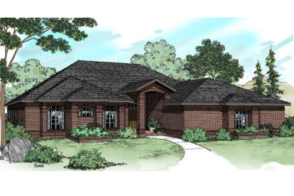 4 Bed, 3 Bath, 2525 Square Foot House Plan - #035-00647