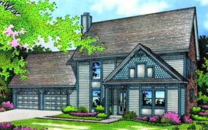 3 Bed, 2 Bath, 1543 Square Foot House Plan - #048-00071