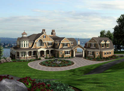 4 Bed, 4 Bath, 7895 Square Foot House Plan - #341-00303