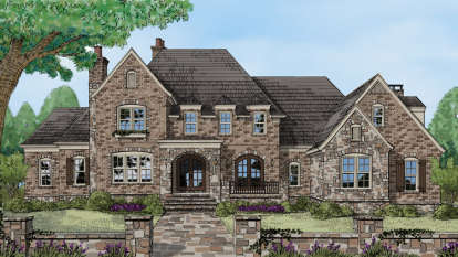 4 Bed, 4 Bath, 5278 Square Foot House Plan - #3418-00002