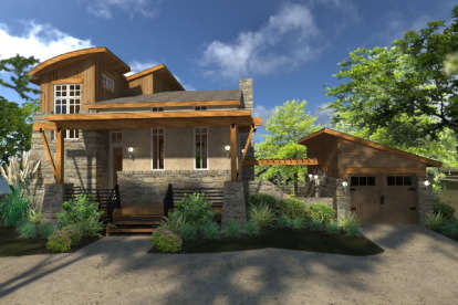 2 Bed, 2 Bath, 985 Square Foot House Plan #9401-00089