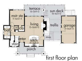 Floorplan 1 for House Plan #9401-00089