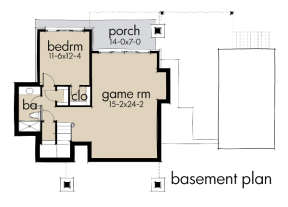 Basement Floor Plan for House Plan #9401-00089