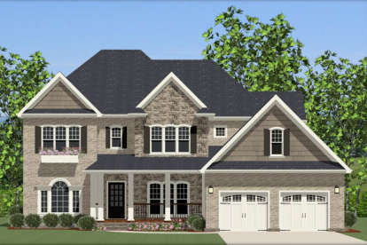 5 Bed, 3 Bath, 3263 Square Foot House Plan - #6849-00003