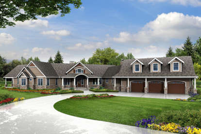 3 Bed, 3 Bath, 4568 Square Foot House Plan - #035-00659