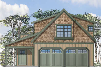 1 Bed, 1 Bath, 946 Square Foot House Plan - #035-00677