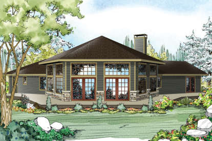 3 Bed, 2 Bath, 2351 Square Foot House Plan - #035-00688