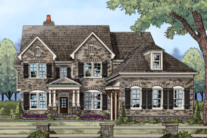 5 Bed, 4 Bath, 3803 Square Foot House Plan - #3418-00005