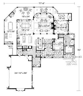 Floorplan 1 for House Plan #1907-00019
