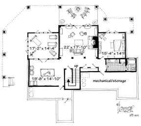 Basement Floor Plan for House Plan #1907-00019