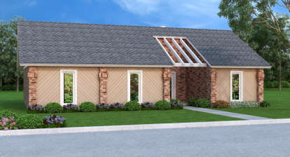 3 Bed, 2 Bath, 1200 Square Foot House Plan - #048-00227