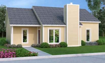 3 Bed, 2 Bath, 1202 Square Foot House Plan - #048-00228