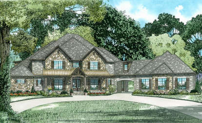 6 Bed, 5 Bath, 6024 Square Foot House Plan #110-01018