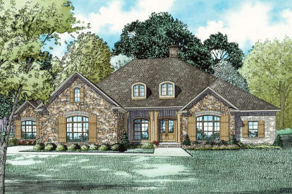 3 Bed, 2 Bath, 3542 Square Foot House Plan - #110-01019