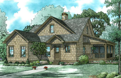 3 Bed, 2 Bath, 1560 Square Foot House Plan - #110-01020