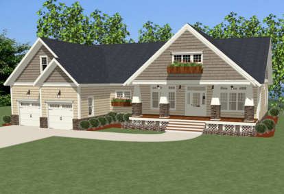 3 Bed, 2 Bath, 2233 Square Foot House Plan - #6849-00016