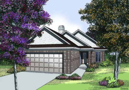 2 Bed, 2 Bath, 1579 Square Foot House Plan - #048-00074