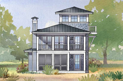 3 Bed, 3 Bath, 2157 Square Foot House Plan - #1637-00105