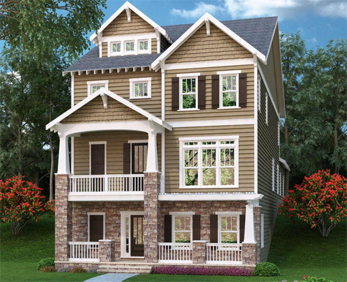 Narrow  Lot  Plan  3 391 Square Feet 3 Bedrooms 4