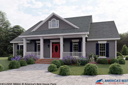 3 Bed, 2 Bath, 1636 Square Foot House Plan #348-00239