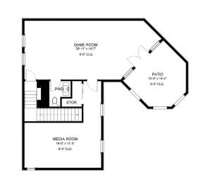 Floorplan 2 for House Plan #9940-00002